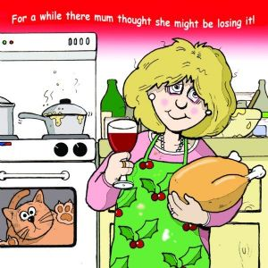 CAN17 – Mum Might Be Losing It Funny Christmas Card